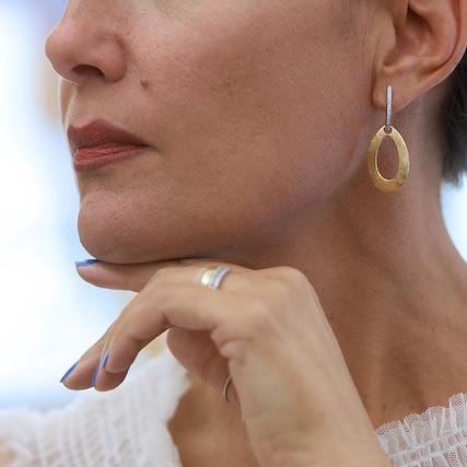 orecchini oro e brillanti Ferrara