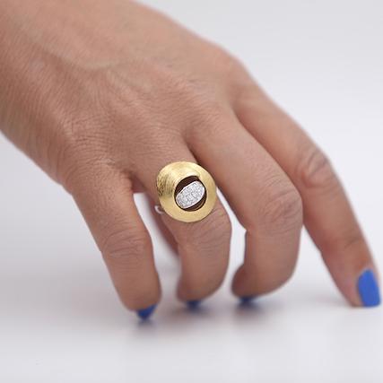 anello oro e brillanti Ferrara