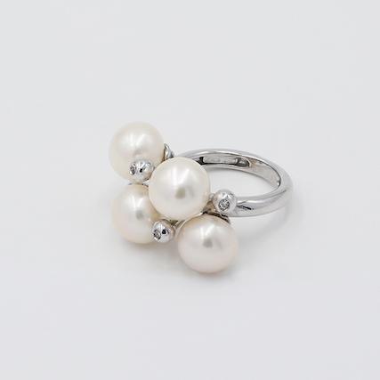 anello oro e perle Ferrara