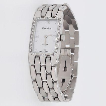 orologio oro bianco diamanti ferrara